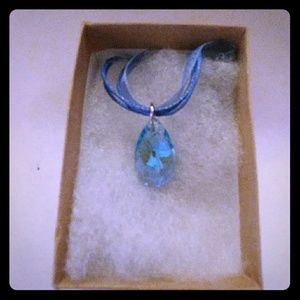 Jewelry - Thunder Blue Crystal Teardrop Necklace